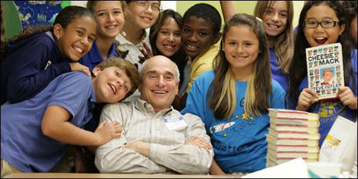 Steve Cotler at a School Visit for Cheesie Mack